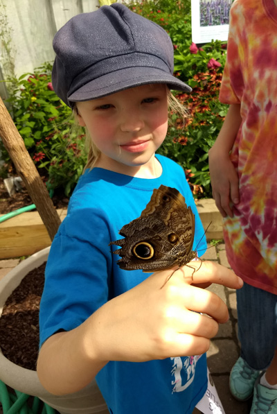Abigail with butterfly