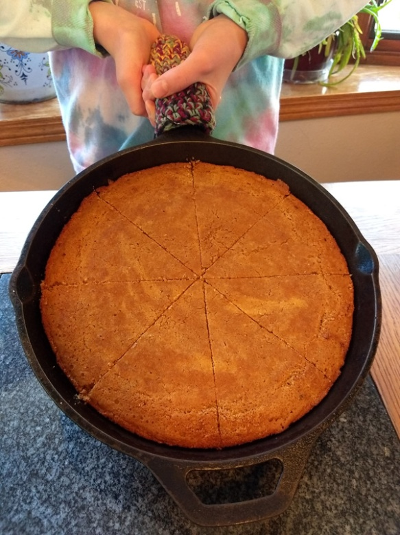 Delicious gluten-free, sourdough corn bread recipe!