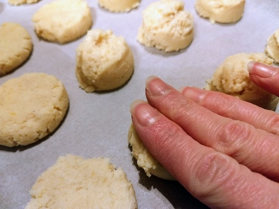 Shaping lemon breakfast cookies