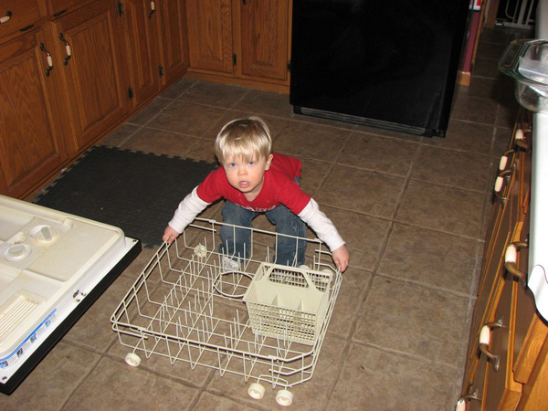Christian with dishwasher rack, resized
