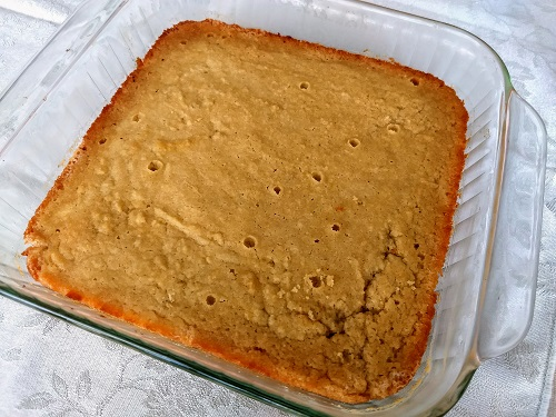 Butter cake in pan