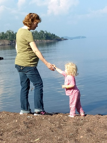 Gooseberry Falls Shoreline with Charis