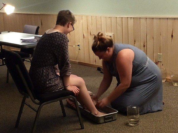 dedication foot washing