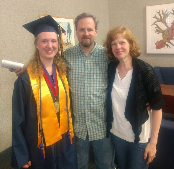 angels graduation pic with parents